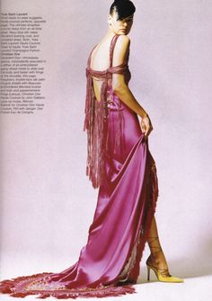 Modern Magic at the Paris Couture, Bazaar March 1997  Photo by David Sims  John Galliano for Christian Dior Spring Summer 1997 Haute Couture