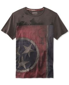 Guess Flag Print T-Shirt