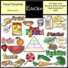Food Pyramid Clip Art Bundle by EduClips on Etsy, $5.50