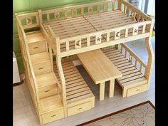 "Determine even more relevant information on ""modern bunk beds for boys room"". Look at our site. Pallet Furniture, Kids Furniture, Furniture Design, Sticks Furniture, System Furniture, Furniture Plans, Space Saving Furniture, Dream Rooms, Bed Design"