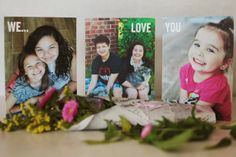 Greeting cards that double as photographs with a special message. :) #DIY #greatgift