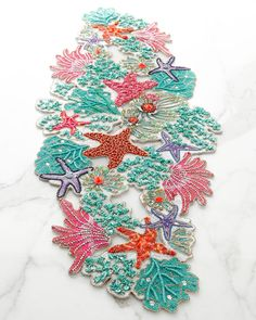 Sea Odyssey Table Runner By Kim Seybert At Neiman Marcus