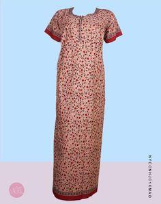 Cotton Nightgowns - Peach Cotton Maxi  nightdress  nightwear  nighty   nighties  nightsuit 5d5656d95