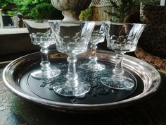 Vintage Crystal Cocktail Glasses, Dolly Madison by Fostoria