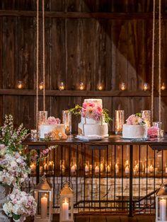 HANG OUR WEDDING CAKE INSIDE!!! OMG SO FUN! xo Lea