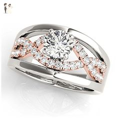 14K White Gold Unique Diamond Engagement Ring Style MT50910 - Wedding and engagement rings (*Amazon Partner-Link)