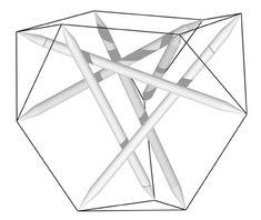 idealized della Sala tensegrity tetrahedron