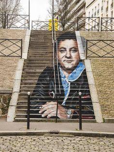 Le fameux escalier de la Rue Lemaignan près du Parc Montsouris, 14e…