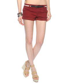 Cuffed Shorts w/ Belt | FOREVER21 - 2000019902