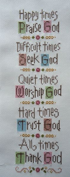 inspiration cross stitch by Lizzie Kate Cross Stitch Quotes, Cross Stitch Bookmarks, Cross Stitch Alphabet, Cross Stitch Samplers, Counted Cross Stitch Patterns, Cross Stitch Charts, Cross Stitch Designs, Cross Stitching, Cross Stitch Embroidery