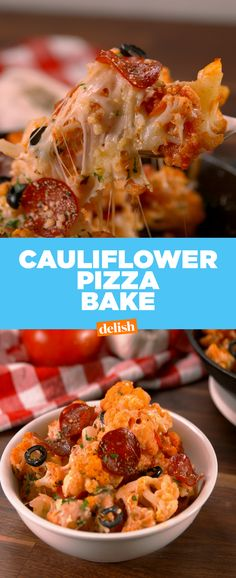 This Cauliflower Pizza Bake will make you actually want to eat your veggies. Get the recipe at Delish.com.