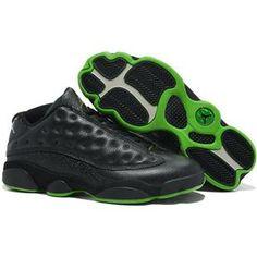 3fb70824969c07 Find Nike Air Jordan 13 Mens Low All Black Green Shoes New online or in  Footlocker. Shop Top Brands and the latest styles Nike Air Jordan 13 Mens  Low All ...