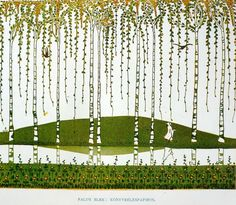 Work of Elek Falus, end-paper of a book. Hungarian Art Nouveau, called Secession. Book of Applied Arts. Chapter: New Art of 20th Century.