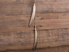 Tutorial fai da te: Come fare una collana con piume dorate via DaWanda.com