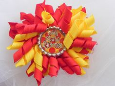 Iowa State Korker with Iowa State Cyclones by CottonCandyBows