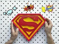 Superman lamp Superman Night light Gift for men Superman gift idea