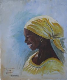 Painting of lady in Cuba 2008 by Jan Britsia