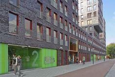 Amsterdam, Netherlands  de Albatros  130 apartments with 1250 m2 community facilities  HVDN ARCHITECTEN
