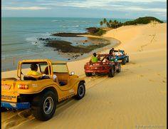 Dunas de Genipabu, Rio Grande do Norte, Brasil. Situado em uma área de proteção ambiental, o Parque...