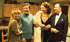 """""""The Good Life was a British sitcom produced by the BBC. The series was set in Surbiton, southwest London. It starred Richard Briers, Felicity Kendal, Penelope Keith & Paul Eddington. British Tv Comedies, Classic Comedies, British Comedy, English Comedy, British Actors, Richard Briers, Penelope Keith, Felicity Kendal, Life Tv"""