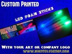 "Foam Stick Category Video - 16"" & 18"" LED FOAM STICKS available Custom Branded at www.Nightclubshop.com"