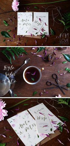 Flower wedding invitations from loveprints.pl, kwiatowe zaproszenie ślubne