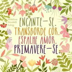 PROSA  -   TRECOS     E     CACARECOS: PRIMAVERE-SE! reflection