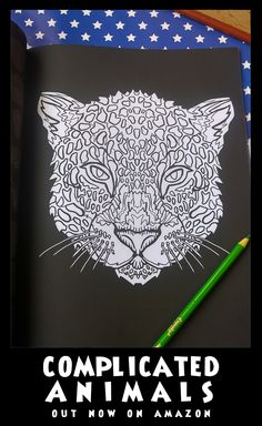 Leopard - Image from Complicated Animals - A Mixed Menagerie Colouring Book - Illustrated by Antony Briggs - UK link: http://amzn.to/2aeY18T USA link: http://amzn.to/2aeXS5B