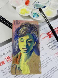 painting practice - gouache on cardboard