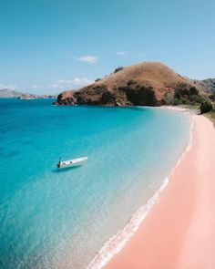 Komodo National Park is one of seven pink beaches in the world. The color comes from microscopic animals called Foraminifera which create red pigments on the coral reefs. Komodo National Park, Parc National, National Parks, Voyage Bali, Destination Voyage, Big Island Hawaii, Island Beach, Ubud, Gili Trawangan