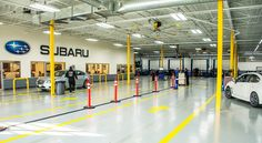 A peek inside our newly remodeled Center! State-of-the-art equipment for accurate, reliable repairs. Subaru, Car, Automobile, Cars