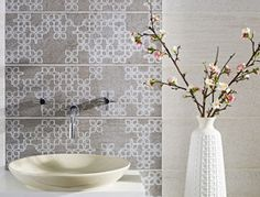 Information about Roches White Wall Tile Contemporary Tile, White Wall Tiles, Topps Tiles, Bathroom Styling, Bathroom Ideas, Family Bathroom, Unique Tile, Tile Projects, Scrappy Quilts