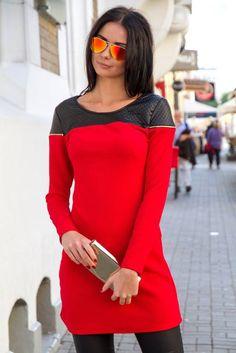 black & red dress