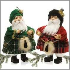 Our Celtic Kilted Santa Figurines, available in an Irish Santa or a Scottish Santa are truly majestic. These jolly old Saint Nicks are simply dashing all decked in their finest plaids. They will surely add some good Celtic fun to your Christmas décor. Only $21.99