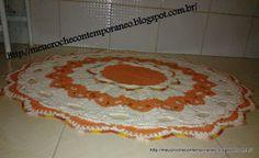 Meu Crochê Contemporâneo: Tapete Redondo Andreia Medina