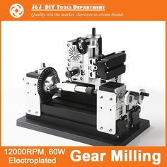 262.73$  Buy here - http://alinc6.worldwells.pw/go.php?t=32378165536 - Big Power Electroplated  Metal Gear Milling Machine A ,  with 12000r/min, 60W  Motor, DIY Tools as Chrildren's Gift. 262.73$