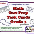 Use these 32 multiple choice math task cards as review or test prep. The cards were created using state standardized tests and grade 3 math Common ...