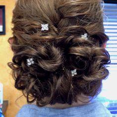 Mary's 8th Grade banquet hair