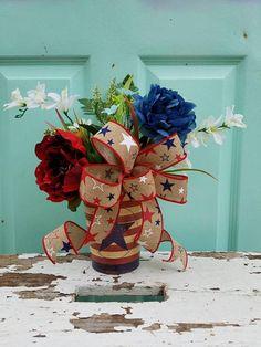 Patriotic Floral  https://www.etsy.com/listing/511308268/americana-patriotic-floral-centerpiece