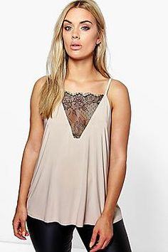 34555795a53ab Plus Emily Lace Detail Cami Top Uk Size 16