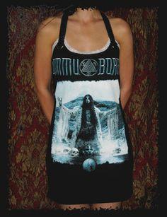 Dimmu Borgir Shagrath Black Metal Norway Lace Shirt Tunic Top Mini Dress S M L XL