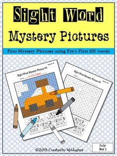 **JULY SET #1 NOW AVAILABLE**   July means Summer Activities- Baseball, Picnics, and Vacations With my Sight Word Mystery Pictures JULY SET #1, your students will love coloring these summer themed pictures! ($)