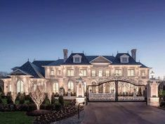 """One of our all time favorites that we've posted a few times - """"Chateau de Lune"""" - A French style brick &. Mansion Interior, Dream House Interior, Luxury Homes Dream Houses, Dream Home Design, Modern House Design, Dream Homes, Dream Mansion, Million Dollar Homes, Dream House Plans"""