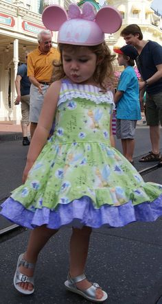 Custom Boutique Disney Tinkerbell Dress Girl 2 by hottotscoolkids2,
