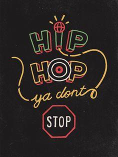 hip hop typography