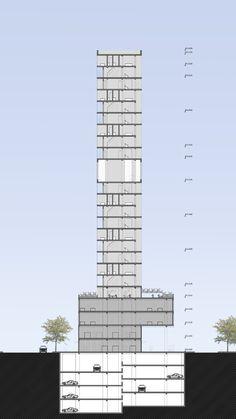 Sección_ Edificio Mixto en San Isidro