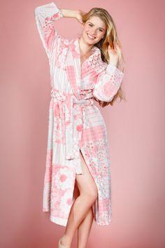 766322c59f Modern Floral Patchwork Design Cozy Robe