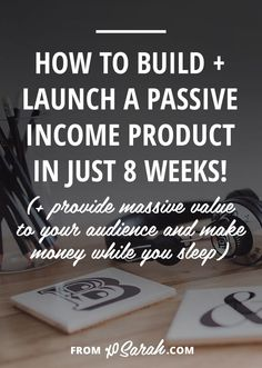 Passive income has been one of the biggest factors in the massive growth my business has seen over the past year. Its allowed me to slow down my once stressful solopreneur workdays, be more selective with the design clients I take on, spend time being cr