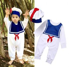 >> Click to Buy << Newborn Infant Baby Boys Girls Clothes Long Sleeve Bodysuit Romper One-piece Hat Sailor Outfits Toddler Kids Clothing Set #Affiliate