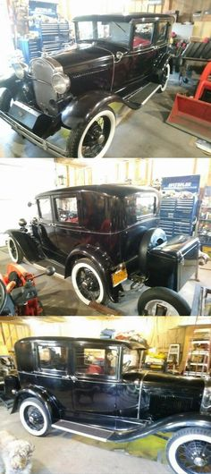 1930 Ford Model A, Four Door Sedan in Overall Good Condition With Extra Parts Ignition System, Rear Ended, Ford Models, Cars For Sale, Antique Cars, Monster Trucks, War, Vintage Cars, Cars For Sell